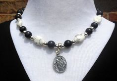 Statement Necklace  Blackstone Howlite and a by CopperTowneGems, $29.00