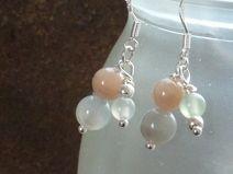 Ohrringe mit Mondstein und Opal Silber 925