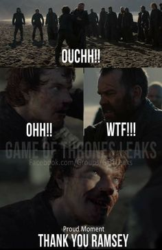 Theon: proud moment. Game of Thrones.