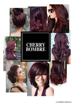 9 hottest burgundy hair color ideas cherry bombre for 2017 Hair Color And Cut, New Hair Colors, Cherry Hair Colors, Cherry Red Hair, Cherry Cherry, Cherry Coke Hair, Hair Colour Ideas, Chocolate Cherry Hair Color, Wavy Hairstyles