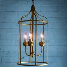The Lucie Pendant is a 3 armed pendant perfect for living room lighting, bedroom lighting or dining room lighting. Available in a range of finishes, this striking bird-cage pendant could be just the feature you have been looking for. www.jim-lawrence.co.uk