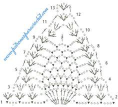 Swimsuit Crochet 2017 Scheme (Crochet) - Magazine Inspiration of the Needlework Motif Bikini Crochet, Bikinis Crochet, Crochet Bra, Crochet Triangle, Crochet Lace Edging, Crochet Chart, Crochet Clothes, Crotchet Patterns, Crochet Stitches Patterns