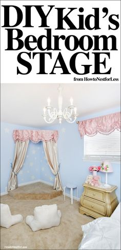 I can totes build this if my daughter wants to be a performer. She's gonna need a bigger stage because I know she's gonna be a diva like her cousin. Ballet Room, Kids Stage, Dance Rooms, Little Girl Rooms, Creative Kids, My New Room, Girls Bedroom, Kid Bedrooms, Bedroom Bed