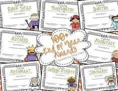 Top 100 Selling item!!  OVER 100 Colorful EDITABLE awards for the End of School.  I love this style of kids for the certificates and I think your kids will, too!  (This was my 55 award pack..I've just added over 50 new additional awards!)  UPDATED!!  These awards are now completely EDITABLE!!