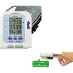 NatureSpirit Advanced Digital Blood Pressure and Heart Rate Monitor with Analytical Software & Oximeter Port