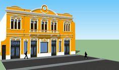 """Edificio Fábrica italiana de calzado """"faitala"""" propiedad de las familia Celia y Barletta"""