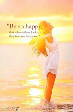 Love this quote! Happiness is contagious.