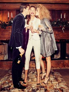 merry christmas: sanna, valentina and alexander by andrea olivo for vanity fa...