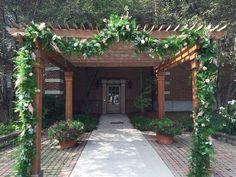 The East Garden - The Dearborn Inn, Marriott Dearborn Inn, Outdoor Photos, Landscaping Ideas, Guest Room, Acre, Colonial, Pergola, Outdoor Structures, Patio