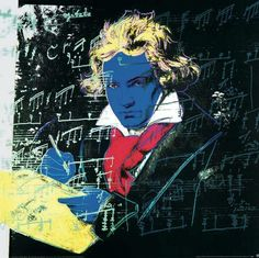 """""""Beethoven-Yellow book-large"""" - Andy Warhol posters and prints available at Barewalls.com"""