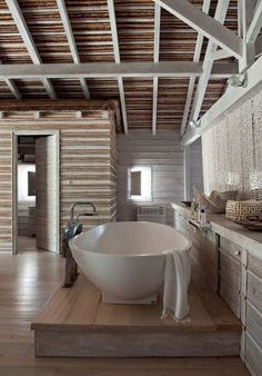 .A terrific tub for two - well thought out because no one has to lean against the plumbing.