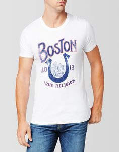 Bostonians and Angelenos may be more similar than you think. When it comes to True Religion, were all brothers! This classic crew neck in white... #TRholiday13