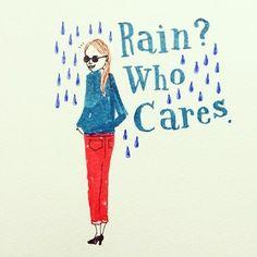"""""""雨?そんなの気にしない。"""" 雨の日も、気を抜かずにお洒落を楽しみたいですよね♪"""