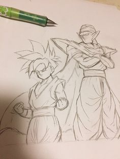 Dbz Drawings, Manga Dragon, Ball Drawing, Anime Store, Seven Deadly Sins Anime, Drawing Reference Poses, Dragon Ball Gt, Sketches, Fan Art