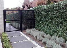 Door Gate Design, Backyard, Patio, Fencing, Exhibitions, Gardening Tips, Entrance, Sidewalk, Outdoor Structures
