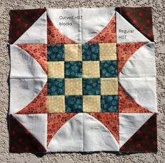 HGMR Deco Quilting: Curve It Up QAL - Block #2 Sawtooth Star