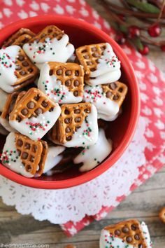 Fact: These are the cutest little Christmas desserts we ever did see. Get the recipe at I Heart Naptime.