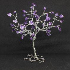 Amethyst Wire tree sculpture gemstone tree amethyst tree