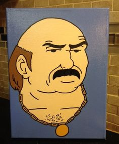 Carl From Aqua Teen Hunger Force Original by LoveWithFaith Aqua Teen Hunger Force, Teeth Pictures, Acrylic Artwork, Picture Hangers, Pottery Painting, Animation Series, Paint Ideas, Canvas Frame, Disney Characters