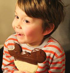 Disney at Home: Disneyland's Chocolate Dipped Shortbread Cookie Recipe - Babes in Disneyland