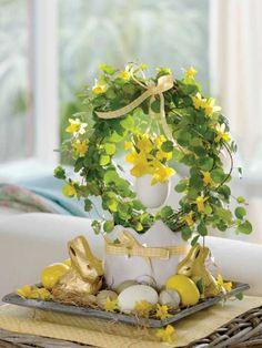 adelaparvu.com despre aranjamente cu oua si flori pentru masa de Paste, Foto Weranda Country (2)