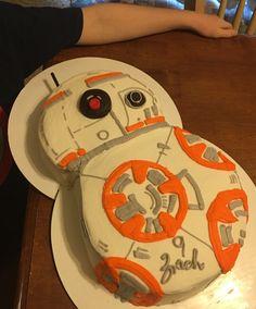 BB8 Birthday Cake Star Wars Cake