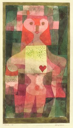 """""""Queen of Hearts"""" (1922) by Paul Klee"""