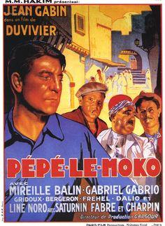 Pépé le Moko est un film français de Julien Duvivier sorti en 1937 avec Jean Gabin. La police cherche à coincer le caïd du milieu parisien Pépé le Moko, réfugié dans la Casbah d'Alger avec sa bande. Il y est intouchable, mais ne peut en sortir sans se faire arrêter. Sa vie bascule le jour où il tombe amoureux de Gaby, une jeune femme demi-mondaine, entretenue par un homme riche,