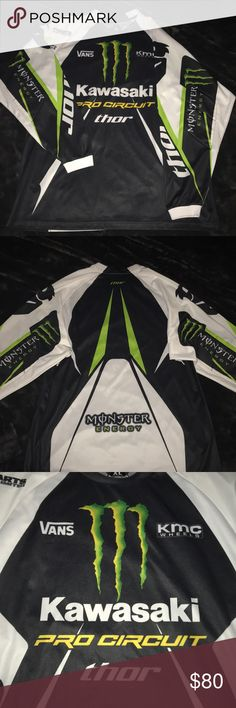 Monster Energy Motocross Jersey  A very dope piece!! In perfect condition just missing tags!!  very loud, very dope, get it while ya can!! Price is pretty firm!!  Vans Shirts