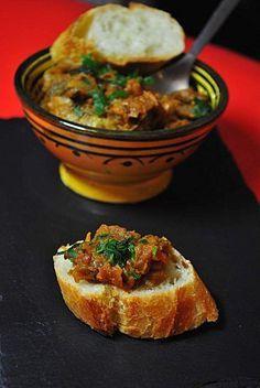 Zaalouk (Dip d Tapas, Vegetarian Recipes, Healthy Recipes, Middle Eastern Recipes, Arabic Food, Iftar, International Recipes, Food Videos, Food Inspiration