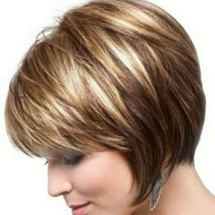 Image result for short diagonal forward haircuts blonde with dark