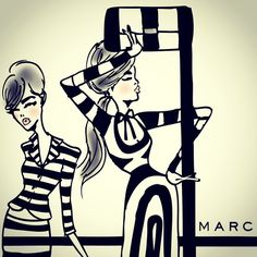 Marc Jacobs SS13 illustration via eighty seventh ST.