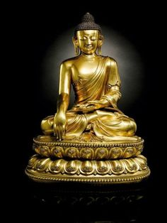 An Outstanding And Highly Important Massive Gilt-Bronze Figure Of A Seated Shakyamuni Buddha, Mark And Period Of Yongle, 54.5 cm. Expected to fetch in excess of HK$50 million / US$6.4 million. Photo: Sotheby's.