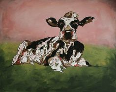 resting cow, drip art, mch artwork Drip Art, Messy Art, Cow, Artwork, Painting, Work Of Art, Auguste Rodin Artwork, Painting Art, Cattle