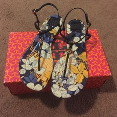 Sale New Tory Burch Sandals New in box Tory Burch floral sandals size 11 Tory Burch Shoes Sandals