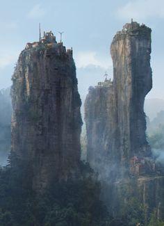 Mountain Village by Sergei Vasnev (Fantasy Art Watch)