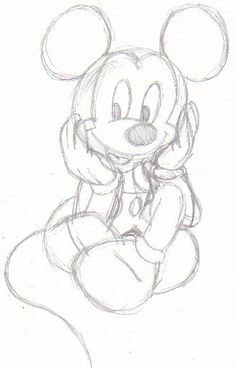 disney sketches | Mickey Mouse Sketch by Sailor Usagi Chan