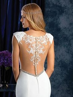 Alfred Angelo Bridal Style 401 from Sapphire Wedding Dresses Crepe Wedding Dress, Stunning Wedding Dresses, Wedding Gowns, Alfred Angelo Bridal, Sapphire Wedding, Nude Color, Embroidered Lace, Bridal Style, Wedding Inspiration