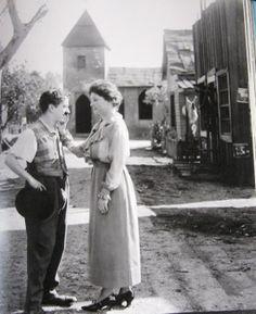 Charlie Chaplin meets Helen Keller (for real).