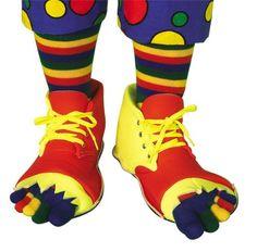 Adult Clown Shoes & Toe Socks