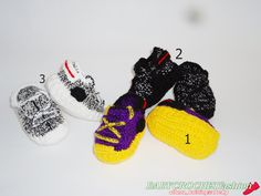 Crochet Yezzy Shoes, Crochet Baby Sneakers, Yezzys, Baby boots, Booties for Baby, Toddler Shoes, West Baby Shoes, 350 boost by…