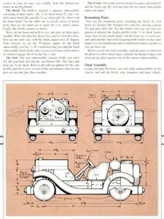 Wooden Sports Car Plans - Children's Wooden Toy Plans and Projects - Woodwork, Woodworking, Woodworking Plans, Woodworking Projects Wooden Truck, Wooden Car, Making Wooden Toys, Wood Projects For Kids, Wood Scraps, Woodworking For Kids, Wood Patterns, Wood Toys, Diy Toys