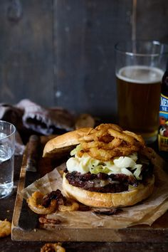 pastrami smoked mac and cheese burger.
