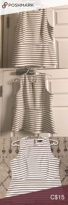 Shop Women's RW & Co. White size L Tank Tops at a discounted price at Poshmark. Description: White and navy striped peplum blouse. Good used condition. Peplum Blouse, Navy Stripes, Top Colour, Tank Tops, Closet, Things To Sell, Design, Style, Swag