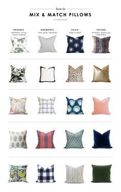 How to Mix & Match Pillows    Studio McGee