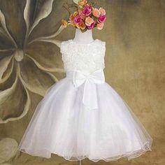 Kids Princess Dress Girls arco flor de las muchachas de la boda del concurso de tul vestidos Vestido(China (Mainland))