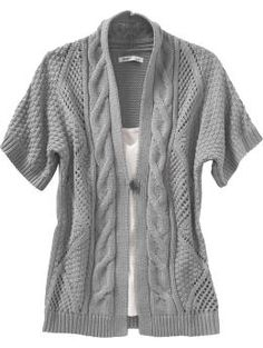 Women's Variegated Cable-Knit Cardigans