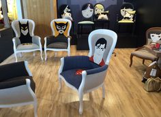 Irina Neacşu created Thecraft LAB a brand of unique handmade design for seats. She designs superheroes chairs to seat like Batman, Catwoman or Superman.