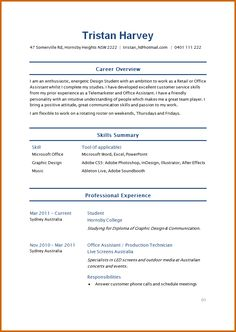 how to make a simple resume for students