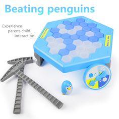 Novelty Parent-child experience game  Ice Breaking Penguin anime fidget toys for children kids toys boys girls interesting games